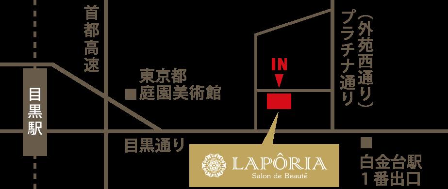 Laporia (ラポーリア)周辺地図